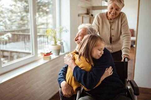 Family elderly and child