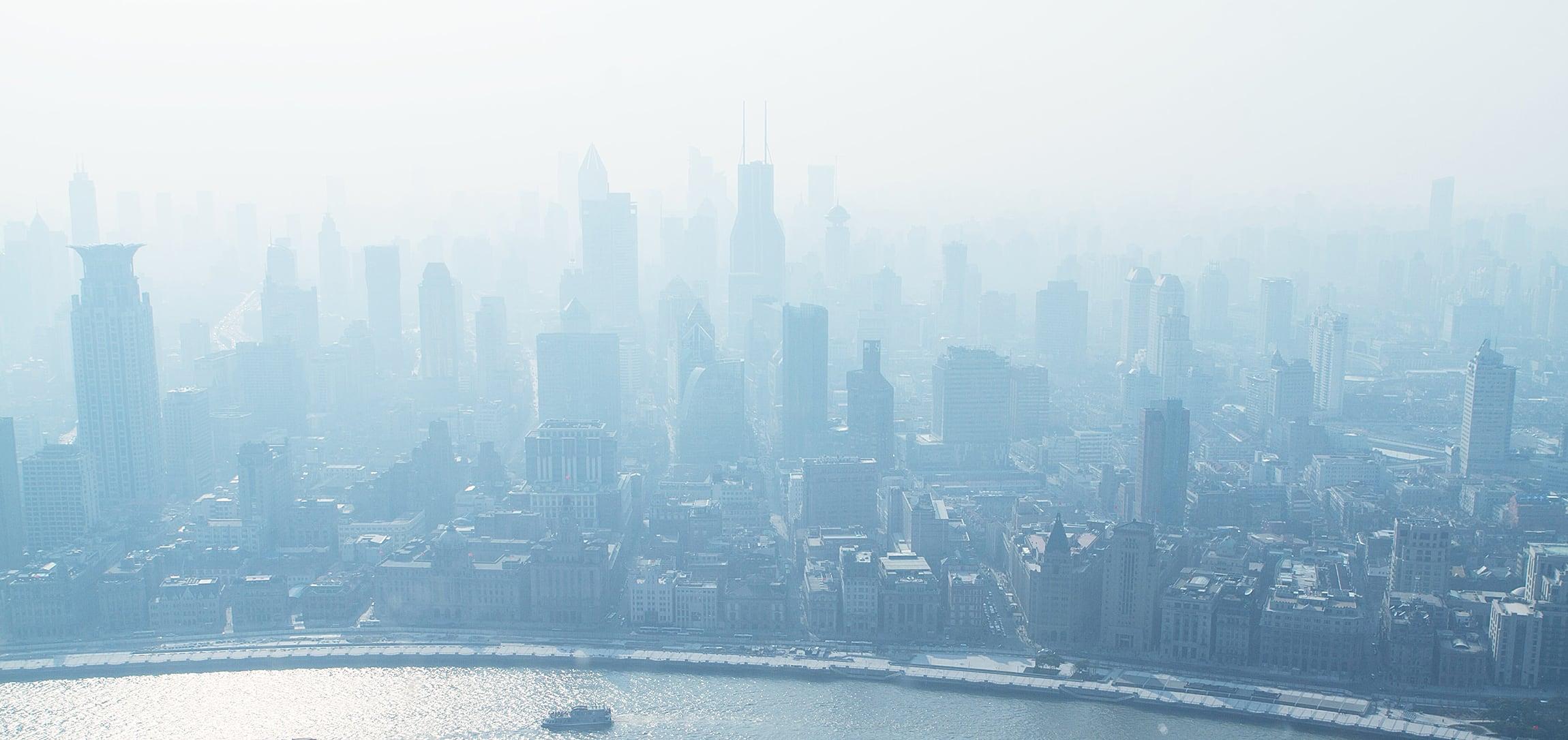Shanghai city smog